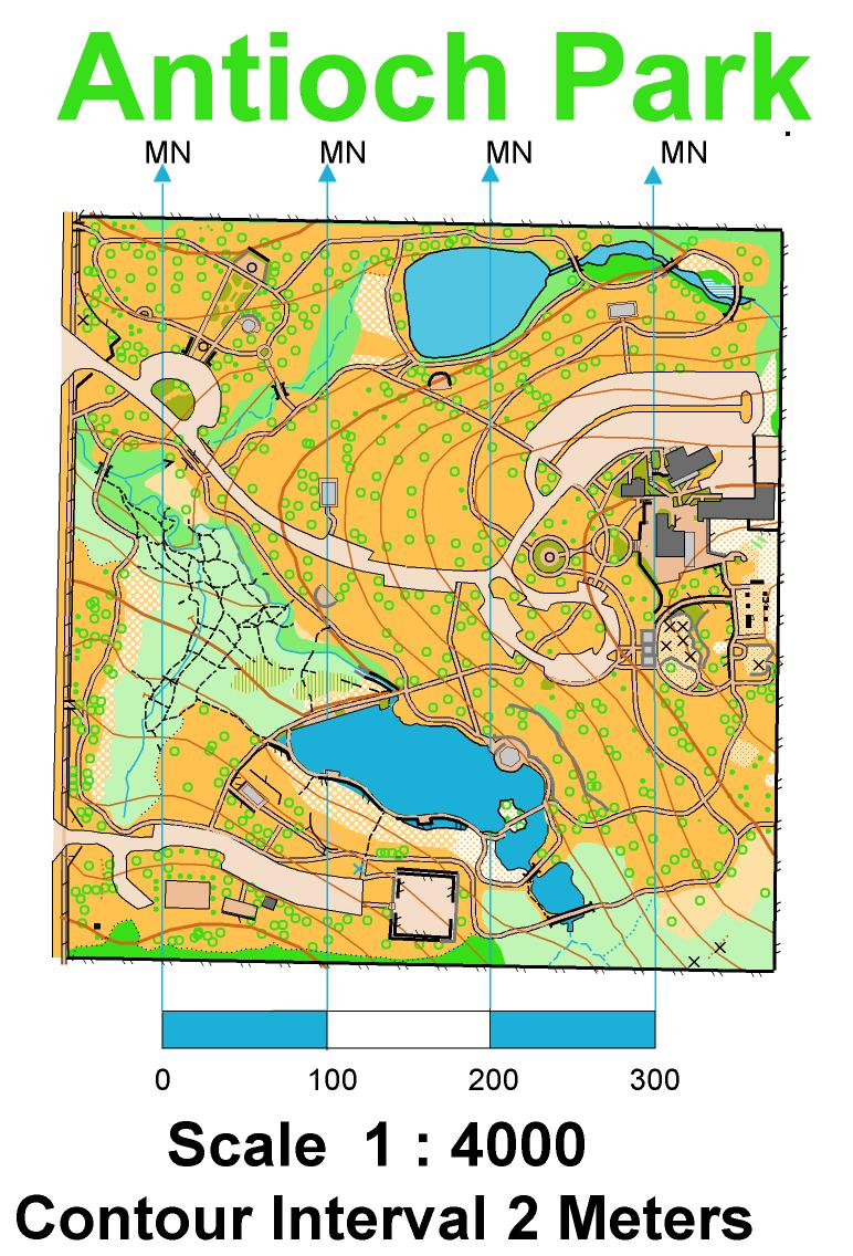 Antioch Park May 27 2012 - May 27th 2012 - Orienteering Map from ...